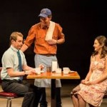 Stephen Ellis, Malcolm Madera, and Rebecca Larsen in Different Words for the Same Thing at CTG/Kirk Douglas Theater